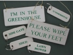 Hanging Wooden Signs & Keyrings