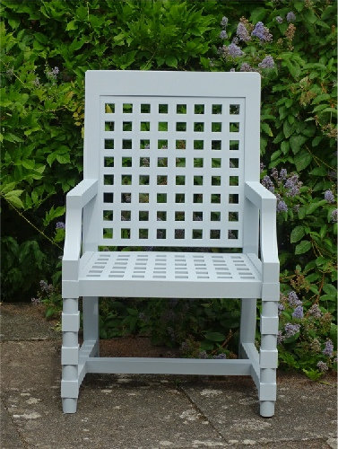 Garden Armchair - Baroque Style, painted Parma Grey