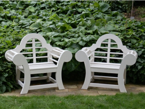 Garden Armchair - Edo Throne Style, painted White