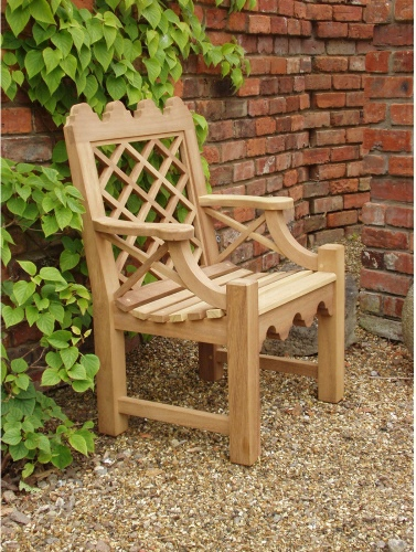 Garden Armchair - Indian Lattice style