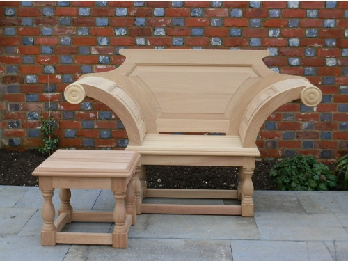 Garden Armchair - Kentian Throne Style, and Kentian Coffee Table