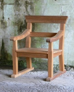Garden Armchair -  Park armchair with double back rails