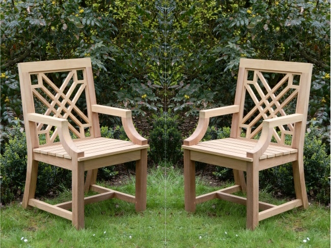 Garden Wooden Armchair / Chair with Arms - The Pavilion Style