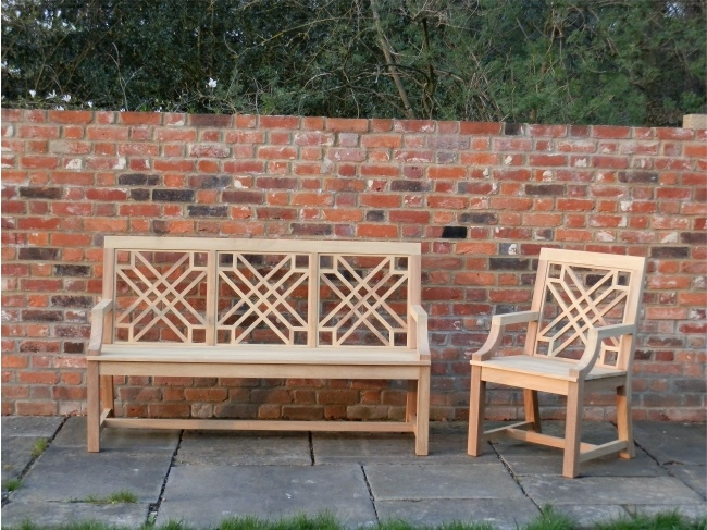 Garden Wooden Seat and Armchair / Chair with Arms - The Pavilion Style