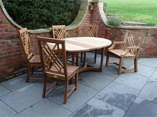 The Pavilion Armchair, Dining Chairs and Oval Refectory Table