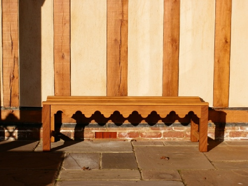 Backless bench - Indian Lattice