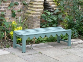 Oak Iroko Teak Backless Garden Benches