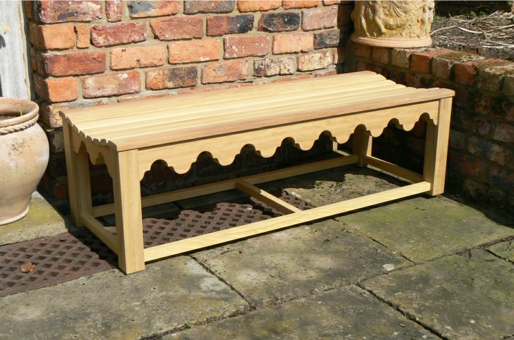 Oak / Iroko Backless Bench