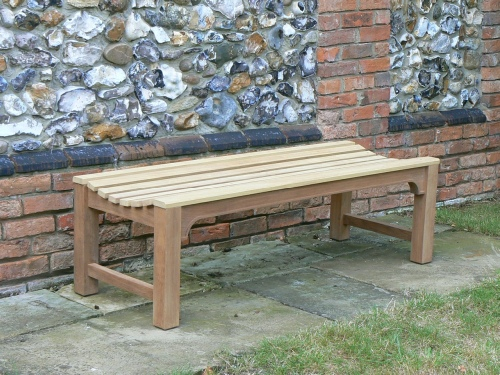 Backless bench - slatted