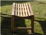 Slatted Backless Bench