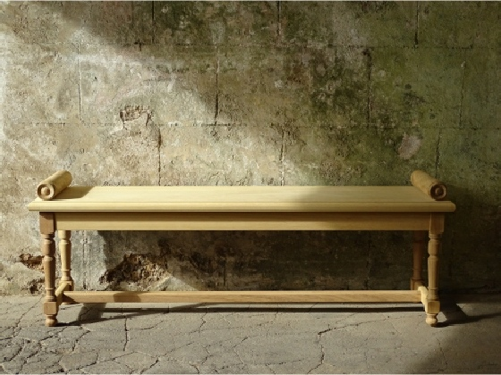 Hall Bench with Roll Ends