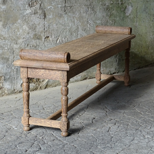 Hall Bench with Roll Ends - Palm Wood