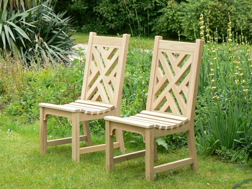 Garden Chair - Chinoiserie Heavy Back Style