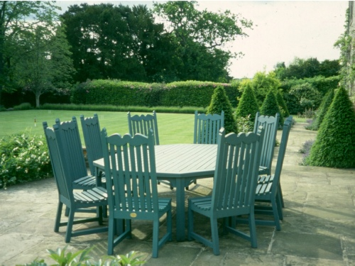 Garden Chair - Edwardian Style, and Octagonal table