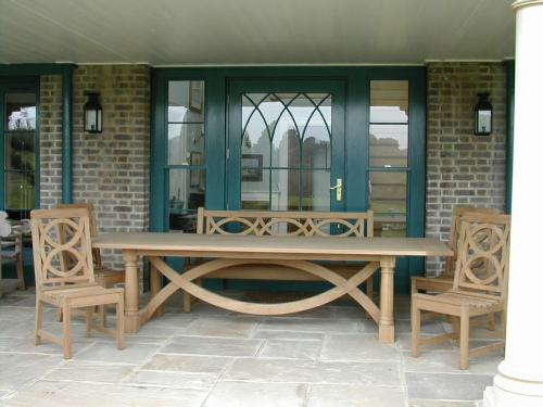 Garden Chair - Hatfield Style, and Hatfield Refectory table
