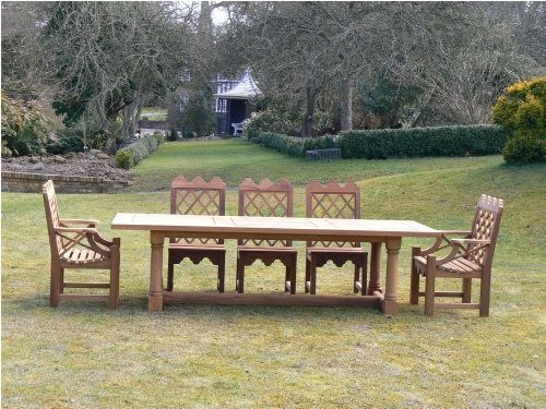 Garden Chair - Indian Lattice Style, and Refectory table