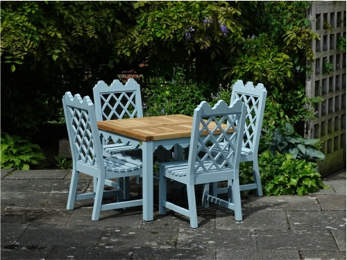 Garden Chair - Indian Lattice Style, and square table