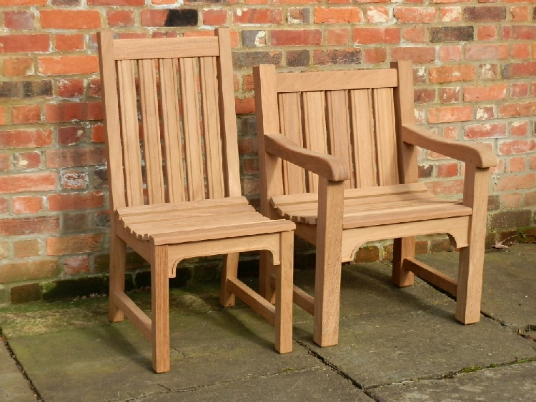 Garden Chair - Knebworth Style, and Knebworth Armchair