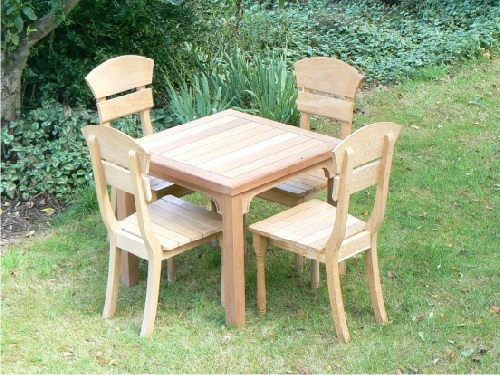 Garden Chair - Lotus Style, and Hadham Square Table