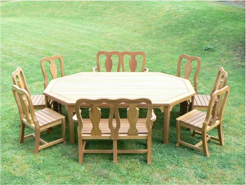 Garden Chair - Queen Anne Style, and Elongated Octagonal Table