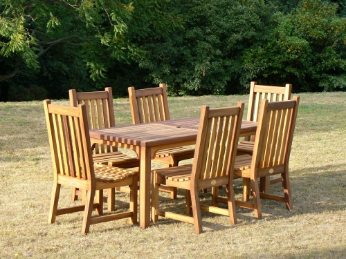 Garden Chair - Slatted Style, and Dining Table