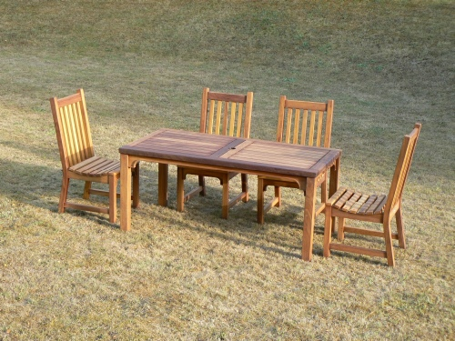 Garden Chair - Slatted Style, and Hadham High Table