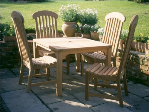 Garden Chair - Windsor style, and Square Table
