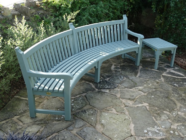 Curved Seat - Audley painted Castle Smoke