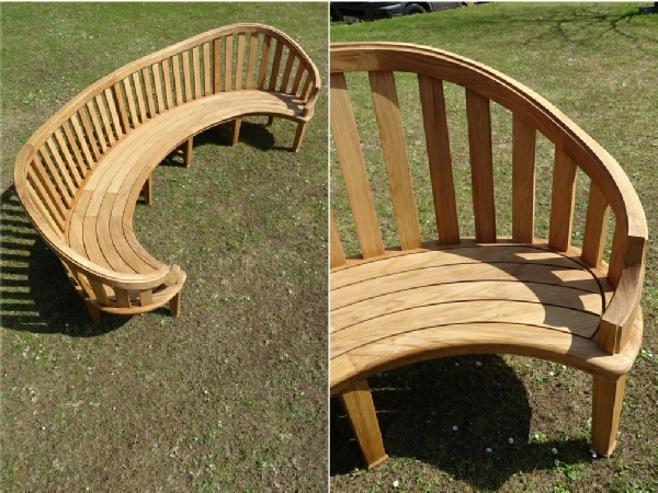 Curved Seat - Kidney with plain slats