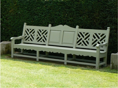 Large Seat - Carlton 6 Panel Style, painted Tatton Trellis