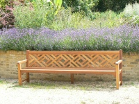 Lagre Garden Seat - Chinoiserie Heavy Back Style