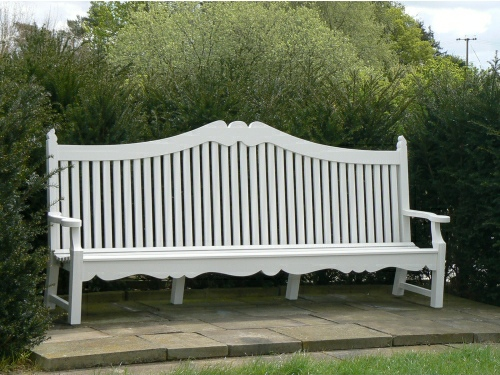 Large Garden Seat - Edwardian Style, a 5 seater seat painted White