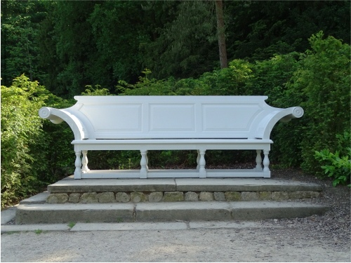 Extra Large Seat - Kentian Style, painted white