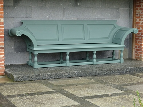 Extra Large Seat - Kentian Style, painted Smoke Green
