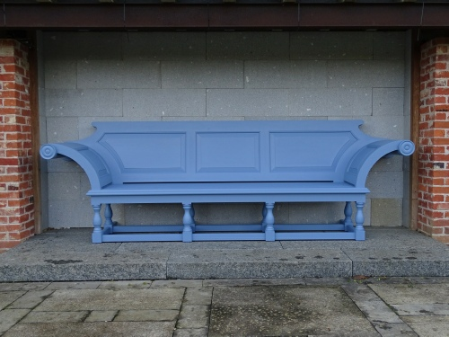 Extra Large Seat - Kentian Style, painted Dolphin Blue