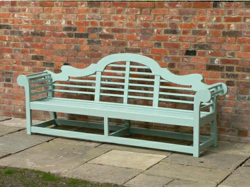 Large Seat - Lutyens Style, painted Tioram Green