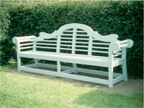 Large Seat - Lutyens Style, painted Calcite