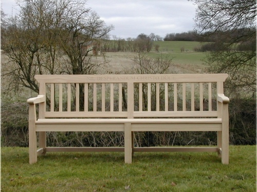 Four Seater Seat - Boscobel Style, made from Oak
