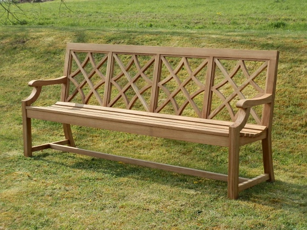 Four Seater Garden Seat - Charles Over (4 Panels) Style