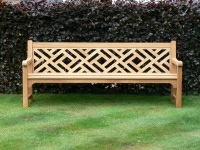 Four Seater Garden Seat - Chinoiserie Heavy Back Style