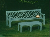 Four Seater Garden Seat - Chinoiserie Style