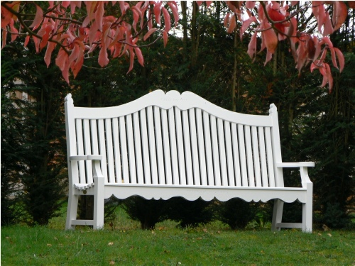 Four Seater Seat - Edwardian Style, painted White