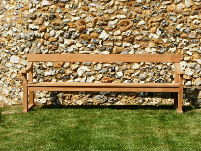 Four Seater Garden Seat - Traditional Park Style on Skids