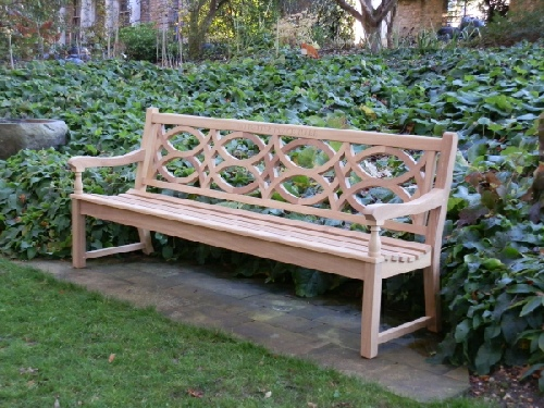 Four Seater Seat - Hatfield Style, with Thistle finials