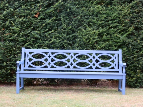 Four Seater Seat - Hatfield Style, painted Morning Blue