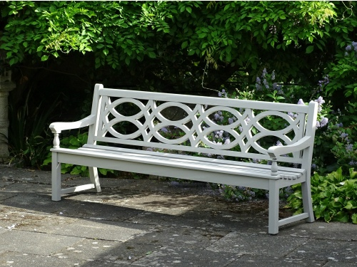Four Seater Seat - Hatfield Style, painted White