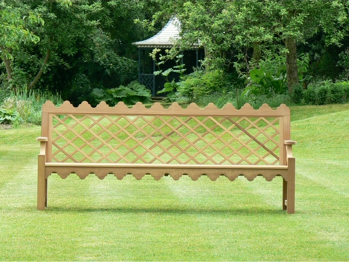 Four Seater Garden Seat - Indian Lattice Style