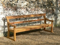 Four Seater Garden Seat - Park Style with double back rails, on Skids