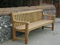 Four Seater Garden Seat - Slatted Style