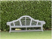 Oak / Iroko Garden Furniture - Large Garden Seat, Japanese Edo style